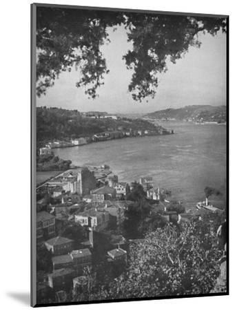 'The Bosphorous - Constantinople in the distance', 1913-Unknown-Mounted Photographic Print