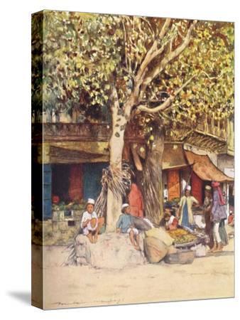 'Mid-Day, Delhi', 1905-Mortimer Luddington Menpes-Stretched Canvas Print