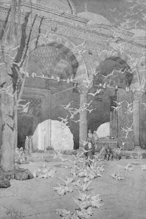 'The Courtyard of the Pigeon's Mosque', 1913-Unknown-Framed Photographic Print