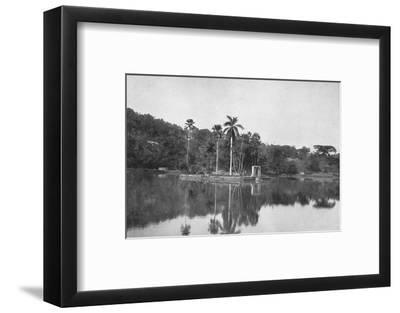 'Die Insel im See von Kandy', 1926-Unknown-Framed Photographic Print