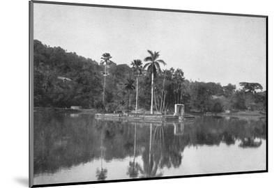 'Die Insel im See von Kandy', 1926-Unknown-Mounted Photographic Print