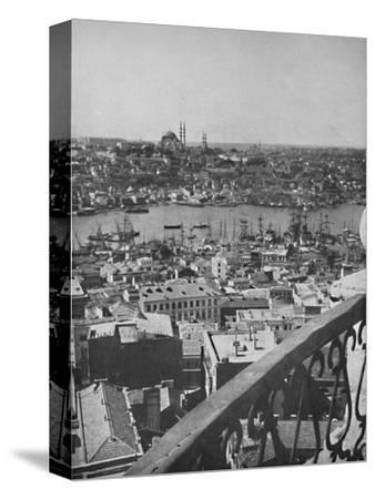 'A view over Constantinople showing the Mosque of Santa Sophia', 1913-Unknown-Stretched Canvas Print