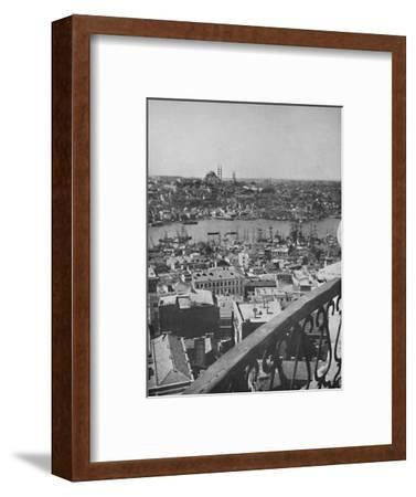 'A view over Constantinople showing the Mosque of Santa Sophia', 1913-Unknown-Framed Photographic Print