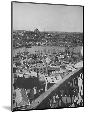 'A view over Constantinople showing the Mosque of Santa Sophia', 1913-Unknown-Mounted Photographic Print