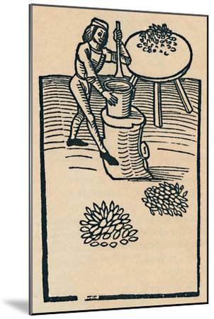 'Crushing Herbs in a Mortar', 1947-Unknown-Mounted Giclee Print