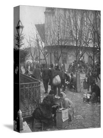 'Public Letter-writers in a Constantinople Street', 1913-Unknown-Stretched Canvas Print