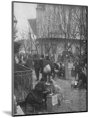 'Public Letter-writers in a Constantinople Street', 1913-Unknown-Mounted Photographic Print