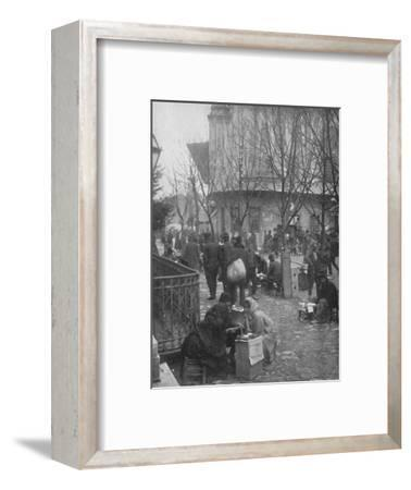 'Public Letter-writers in a Constantinople Street', 1913-Unknown-Framed Photographic Print