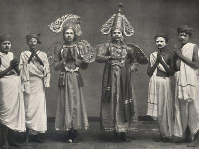 'Szene aus Shakuntalavilasa, dem Spiel von Shakuntala', 1926-Unknown-Framed Photographic Print