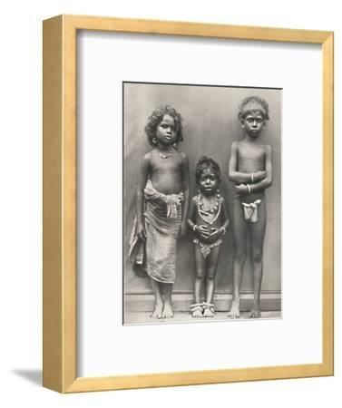 'Tamulenkinder', 1926-Unknown-Framed Photographic Print