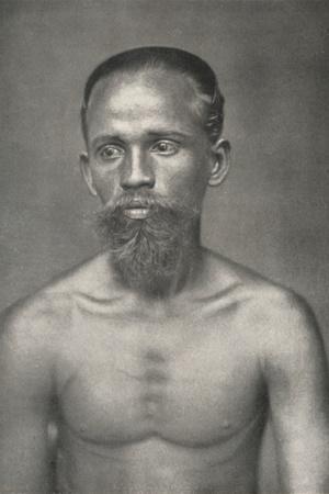 'Singhalesischer Arbeiter aus dem Niederland', 1926-Unknown-Framed Photographic Print