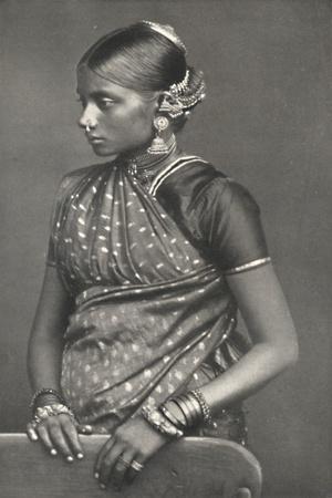 'Tamulin mit Schmuck', 1926-Unknown-Framed Photographic Print