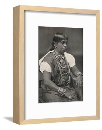 'Vornehme Singhalesin aus Kandy', 1926-Unknown-Framed Photographic Print