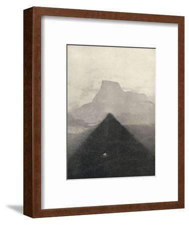 'Schatten des Adamspik bei Sonnenaufgang', 1926-Unknown-Framed Photographic Print