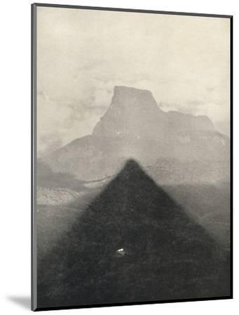 'Schatten des Adamspik bei Sonnenaufgang', 1926-Unknown-Mounted Photographic Print
