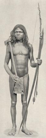 'Wedda mit Bogen, Pfeilen und Beil', 1926-Unknown-Framed Photographic Print
