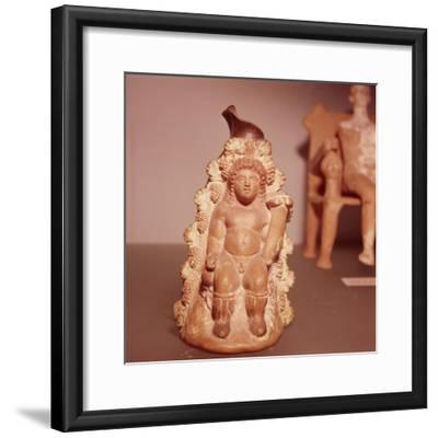 Dionysus in cave, Lekythos made in Athens, c350 BC-Unknown-Framed Giclee Print