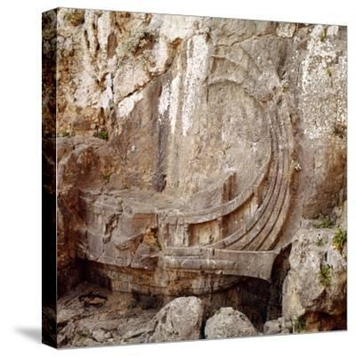Detail of Greek Ship with Large Steering Oar, Relief Carving 2nd century BC-Unknown-Stretched Canvas Print