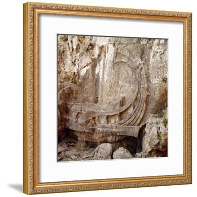 Detail of Greek Ship with Large Steering Oar, Relief Carving 2nd century BC-Unknown-Framed Giclee Print