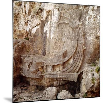 Detail of Greek Ship with Large Steering Oar, Relief Carving 2nd century BC-Unknown-Mounted Giclee Print