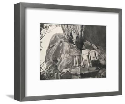 Die Rajagirilena genannte Stelle in den Felsen von Mihintale-Unknown-Framed Photographic Print