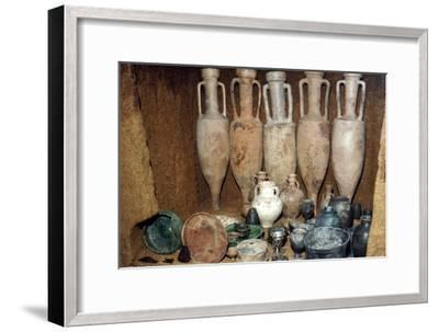 Rich burial at Welwyn Garden City, Celtic Iron Age, late 1st century-Unknown-Framed Giclee Print