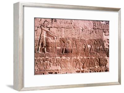 Mortuary Temple of Rameses III at Medianat Habu, Luxor, Egypt, 12th Century BC-Unknown-Framed Giclee Print