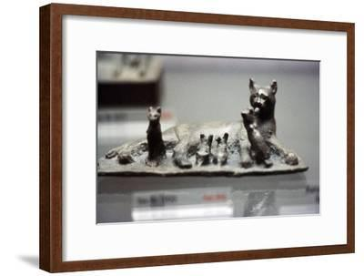 Cat and Kittens-Unknown-Framed Giclee Print