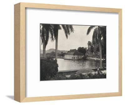 'Der See von Kand mit dem Bibliotheksgebaude des Tempels des Heiligen Zahnes', 1926-Unknown-Framed Photographic Print