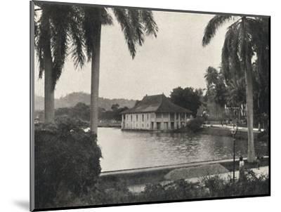 'Der See von Kand mit dem Bibliotheksgebaude des Tempels des Heiligen Zahnes', 1926-Unknown-Mounted Photographic Print