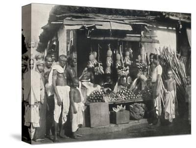 'Stand eines Obstverkaufers in Colombo', 1926-Unknown-Stretched Canvas Print