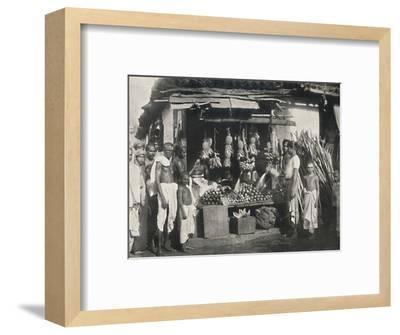 'Stand eines Obstverkaufers in Colombo', 1926-Unknown-Framed Photographic Print