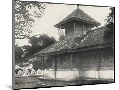 'Dewale (s. Tafel 58) bei der Dagoba des Heiligen Zahnes in Kandy', 1926-Unknown-Mounted Photographic Print