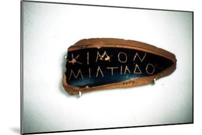 Ostrakon of Cimon, an Athenian statesman, Fragment of Greek Pottery, c5th century BC-Unknown-Mounted Giclee Print