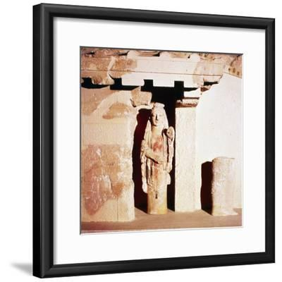 Model of ancient Temple of Athena, 6th century BC-Unknown-Framed Giclee Print