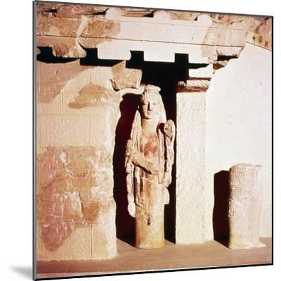 Model of ancient Temple of Athena, 6th century BC-Unknown-Mounted Giclee Print