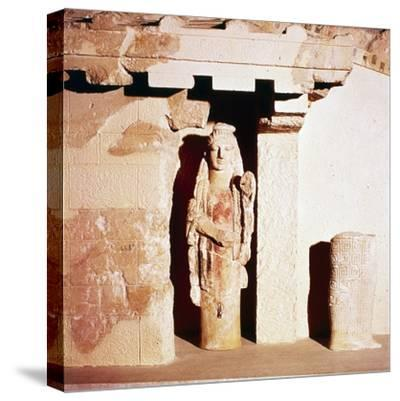 Model of ancient Temple of Athena, 6th century BC-Unknown-Stretched Canvas Print