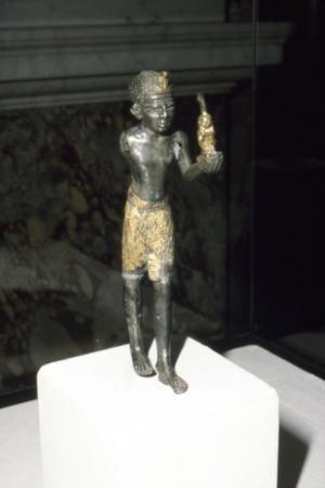 Egyptian Statuette of King Seti I offering image of Maat, New Kingdom, c13th century BC-Unknown-Framed Giclee Print