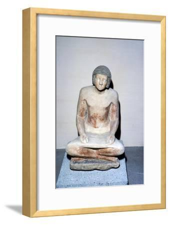 Egyptian Scribe Old Kingdom, 2400BC-2000 BC-Unknown-Framed Giclee Print