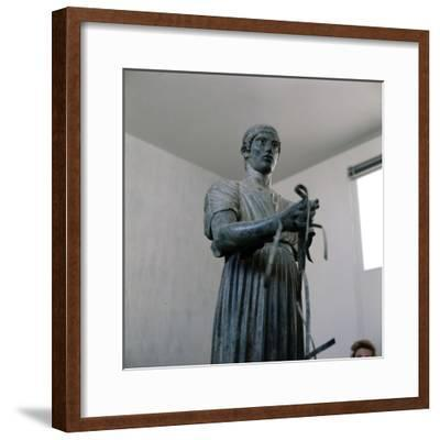 The Charioteer Bronze, Delphi, Greece, c475BC-470 BC-Unknown-Framed Giclee Print