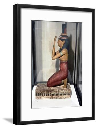 Statuette of supplicant kneeling-Unknown-Framed Giclee Print