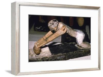 Wood Model of Woman Grinding Corn, Egyptian Tomb Finding, c1900 BC-Unknown-Framed Giclee Print