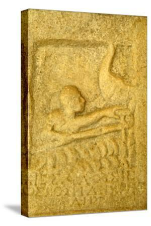 Greek Grave-Slab of Shipwrecked Sailor, from Rheneia, Mykonos, c5th century BC-Unknown-Stretched Canvas Print