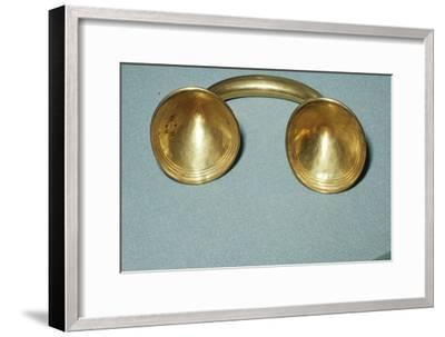 Gold Dress-Fastener, Late Bronze Age, Irish, c1400BC-600 BC-Unknown-Framed Giclee Print
