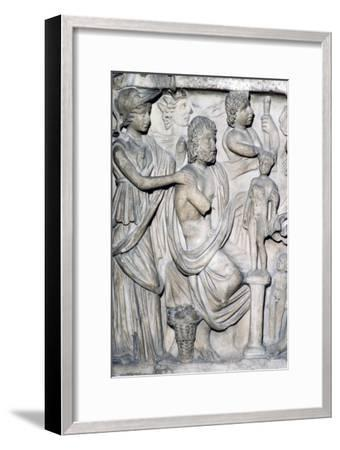 Prometheus creating the First Man, detail of Sarcophagus from Arles, France, c3rd-4th century-Unknown-Framed Giclee Print