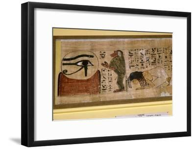Detail of Papyrus of Hent-Taul, Egypt, 21st Dynasty, c1069 BC - 945 BC-Unknown-Framed Giclee Print