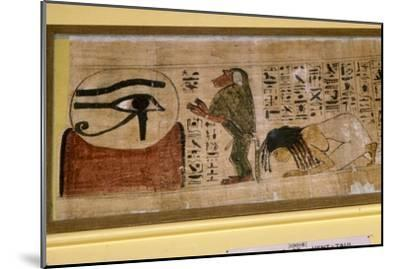 Detail of Papyrus of Hent-Taul, Egypt, 21st Dynasty, c1069 BC - 945 BC-Unknown-Mounted Giclee Print