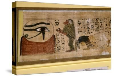 Detail of Papyrus of Hent-Taul, Egypt, 21st Dynasty, c1069 BC - 945 BC-Unknown-Stretched Canvas Print