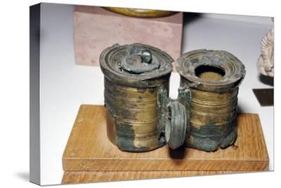 Bronze Roman Inkpots,at Chatillon-sur-Seine. France, c2nd-3rd century-Unknown-Stretched Canvas Print