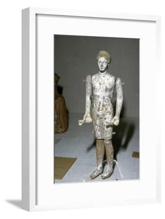 Greek Terracotta Figure, c620BC-c300BC-Unknown-Framed Giclee Print